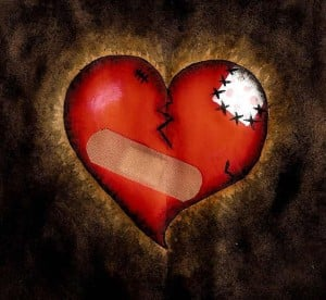I'm still trying to repair the broken heart you left me...